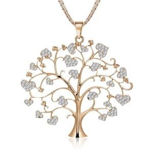 Tree of Life Necklace with Hearts NEW